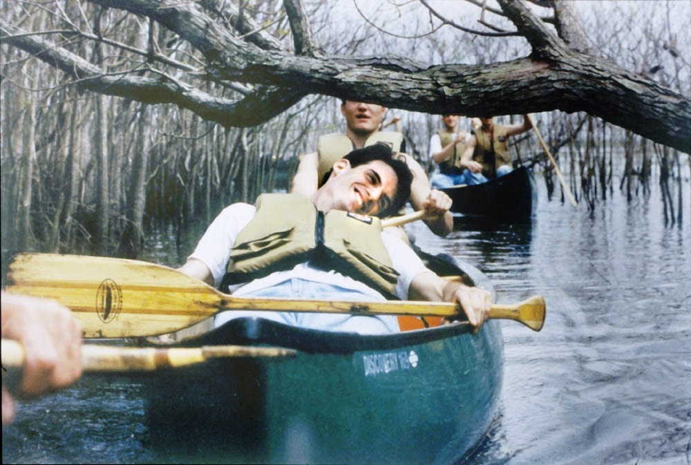 Photo of boy in canoe